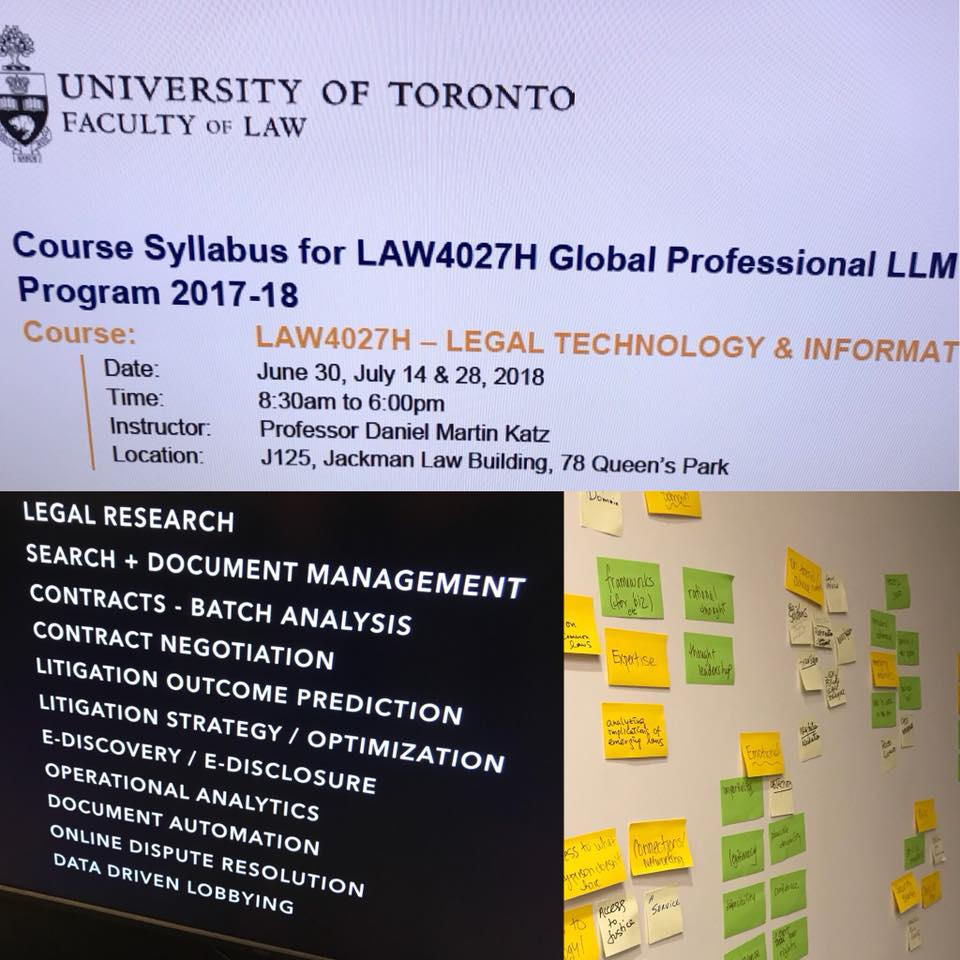 U of Toronto legal tech and informatics information