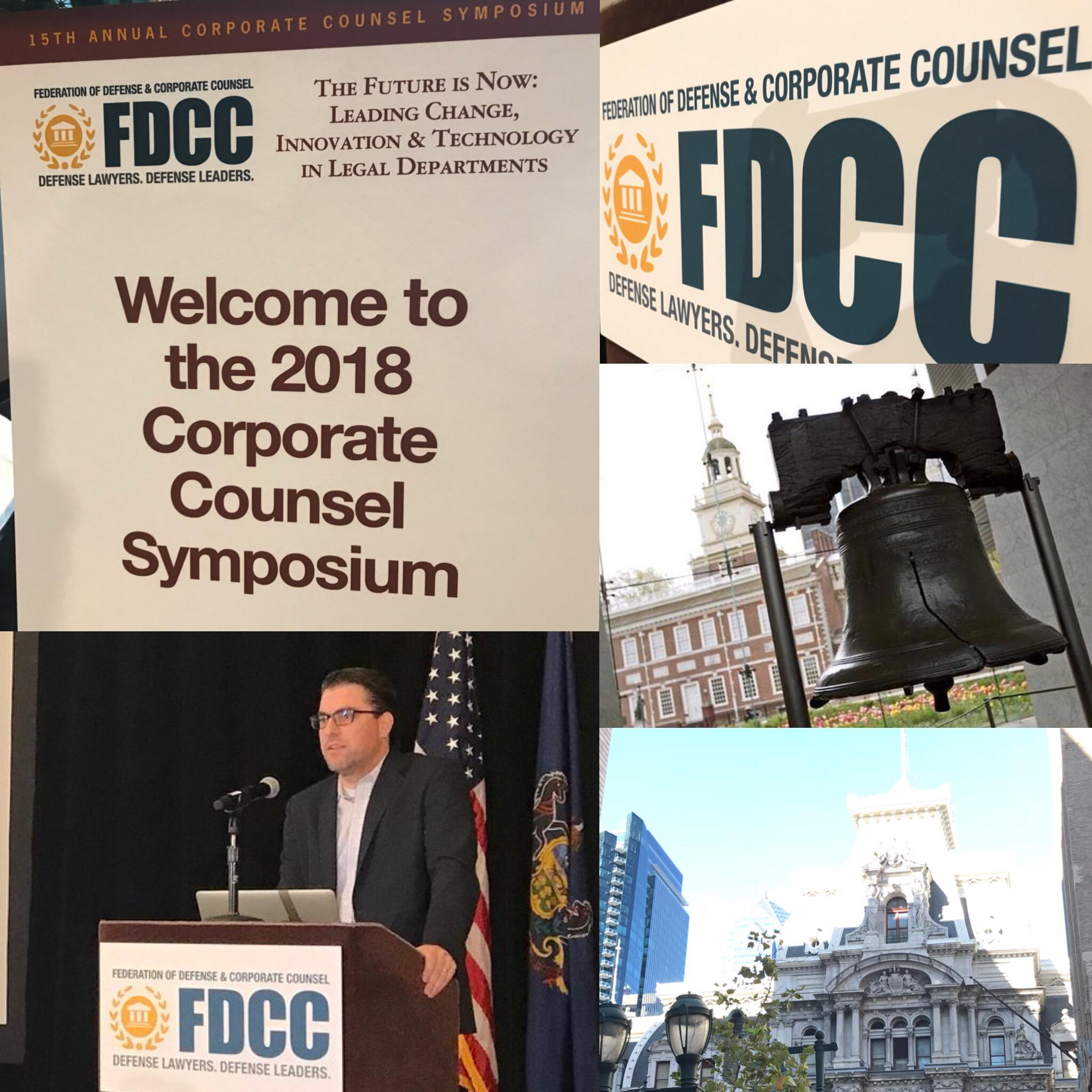 dan katz speaking at fdcc corporate counsel symposium 2018