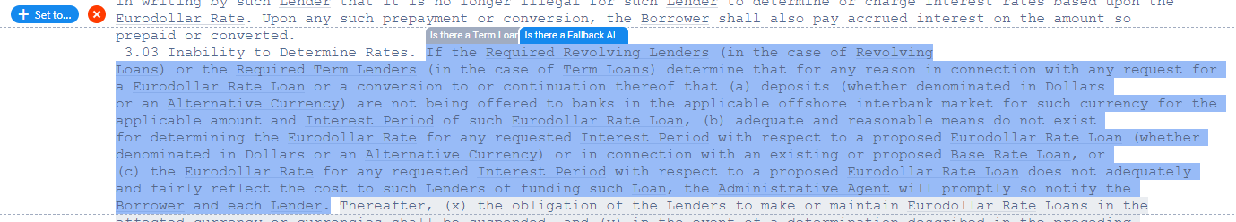 LIBOR fallback provision language in a contract